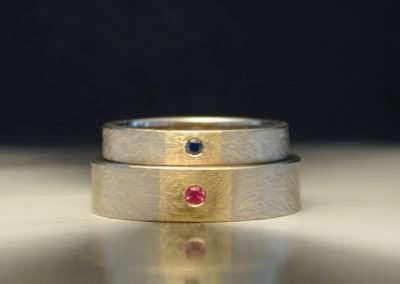 unique gold anniversary ring sapphire