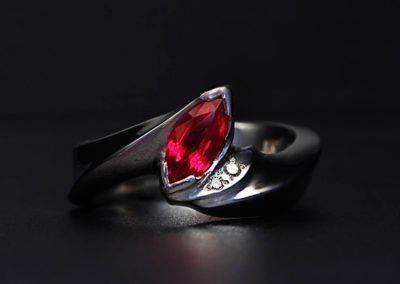 unique anniversary ring platinum ruby
