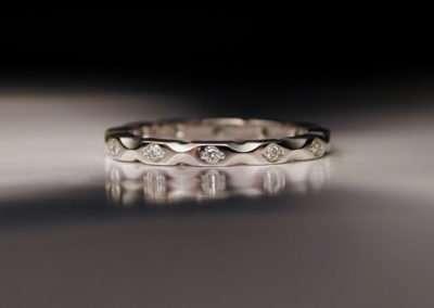 unique platinum engagement ring diamond