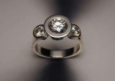 diamonds, platinum, wedding ring, engagement ring, 3 stone ring