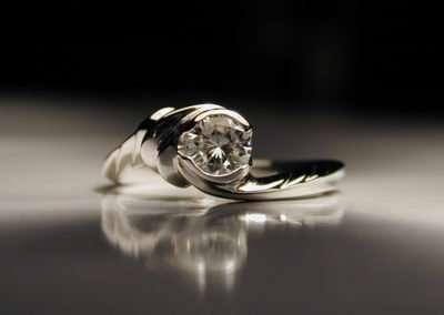 unique diamond engagement ring water