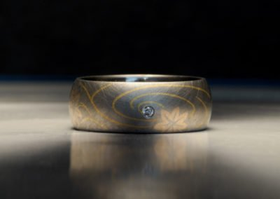 unique mens wedding ring japanese woodblock