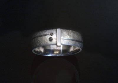 unique mens black diamond wedding ring palladiun