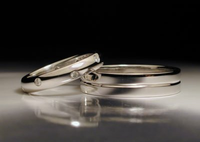 unique wedding rings platinum with diamonds