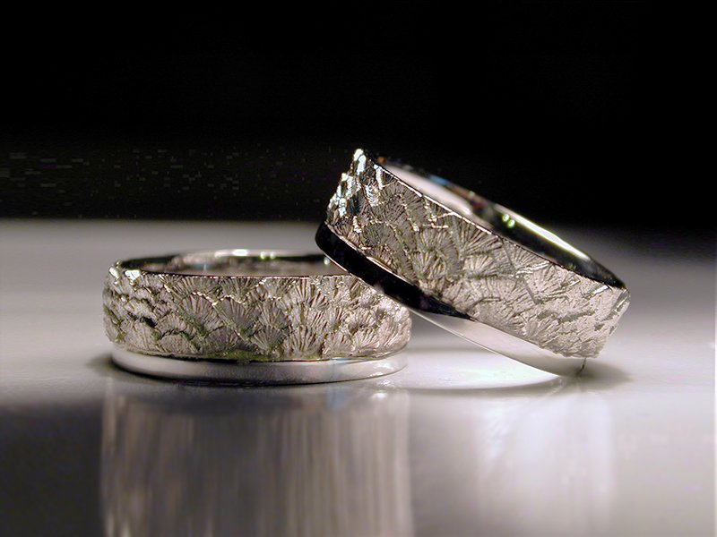 wedding rings, eagle feathers, platinum, anniverary rings, hand carved