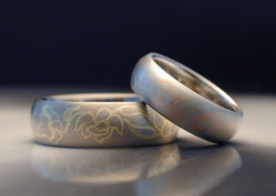 unique platinum wedding rings inlaid lotus