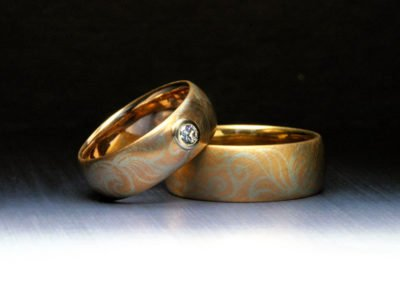 unique wedding rings inlaid scroll jim dailing