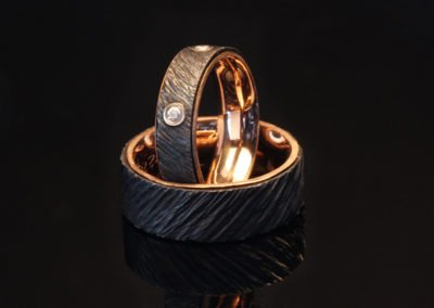 unique wedding rings red gold iron
