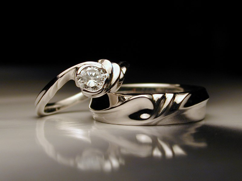 Platinum holiday engagement rings in Portland, Oregon