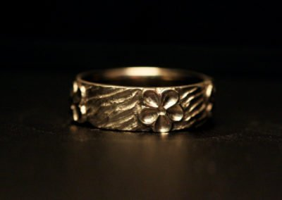 unique womens wedding ring cherry blossoms