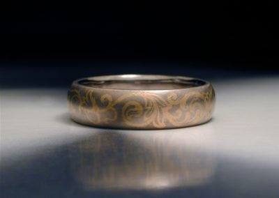 unique womens wedding band inlaid