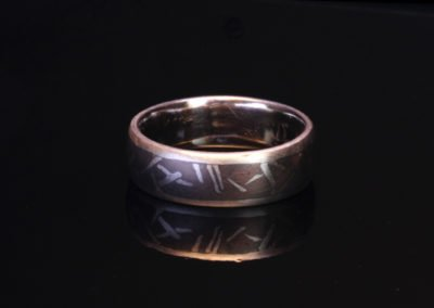 unique womens wedding ring inlaid palladium