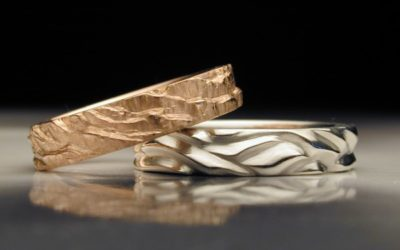 Ring Stories: Desert and Water Custom Created Wedding Rings